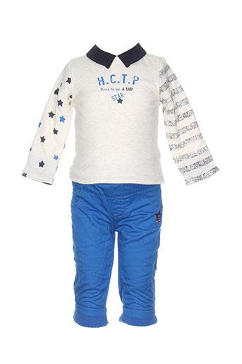 3 et pommes pull et pantalon garcon de couleur bleu (photo)