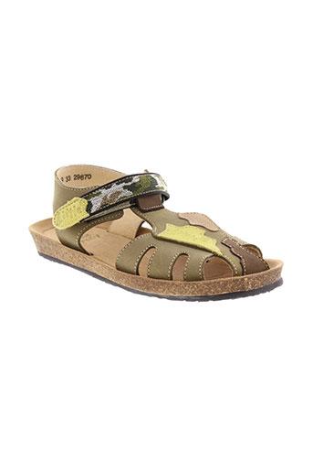 little et mary sandales et nu et pieds garcon de couleur vert