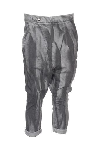 denim deluxe pantacourts femme de couleur gris