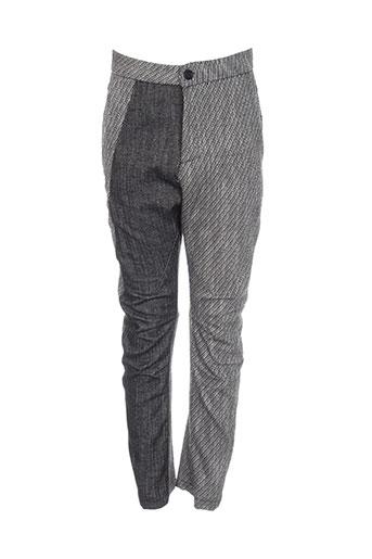 denim deluxe pantalons femme de couleur gris