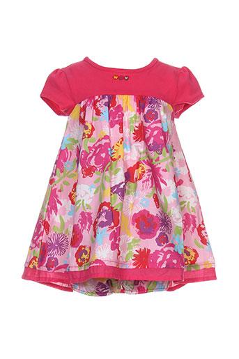 absorba robes et mi et longues fille de couleur rose