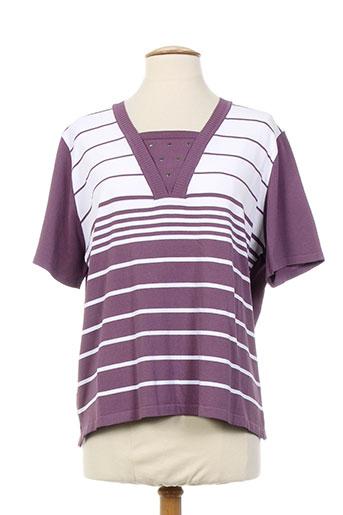 T-shirt manches courtes violet ARDIUM pour femme