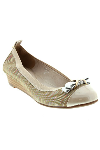 metamorf'ose chaussures femme de couleur beige