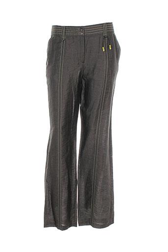 carole richard pantalons femme de couleur gris