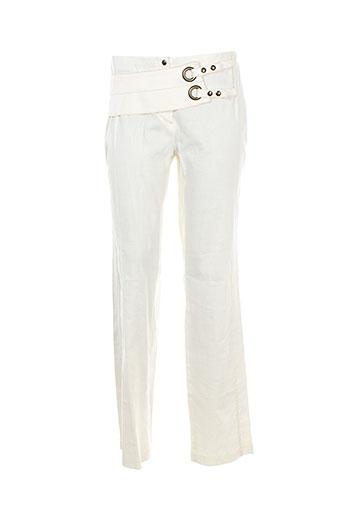 my way pantalons femme de couleur blanc