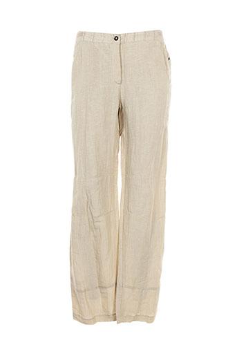 my way pantalons femme de couleur beige