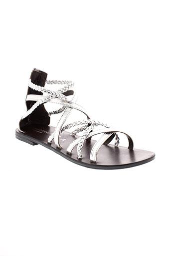 valentine et la et coquine sandales et nu et pieds femme de couleur gris