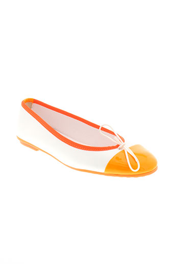 coco et et et abricot ballerines femme de couleur orange