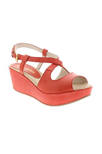lola et espeleta sandales et nu et pieds femme de couleur rouge