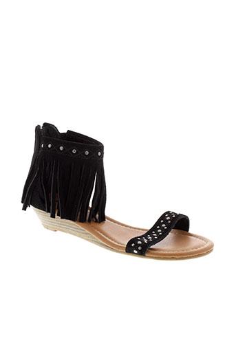 minnetonka sandales et nu et pieds femme de couleur noir