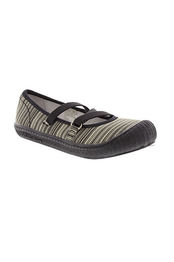palladium ballerines fille de couleur gris