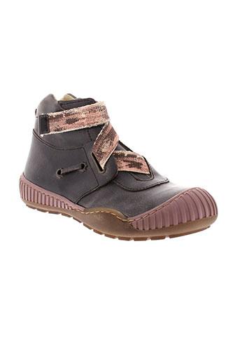 little et mary boots fille de couleur marron