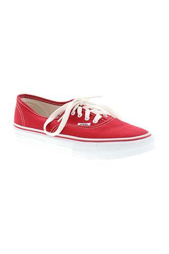 vans chaussures enfant de couleur rouge