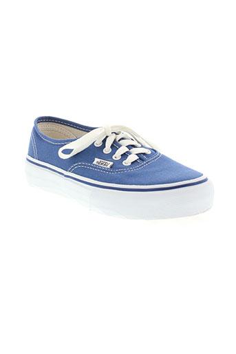 vans chaussures enfant de couleur bleu