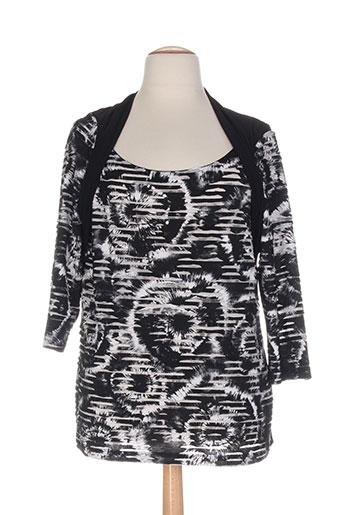 sommermann chemises femme de couleur noir