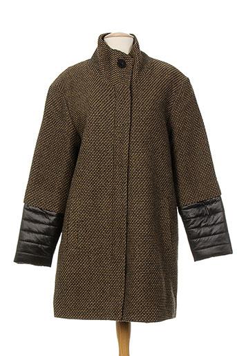 imitz manteaux femme de couleur marron