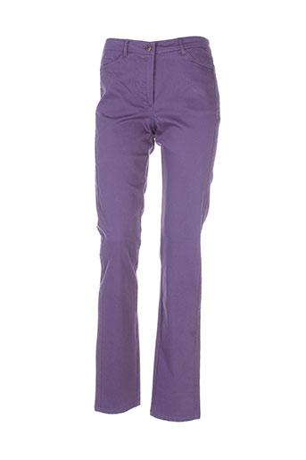 felino pantalons femme de couleur violet
