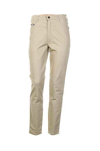 tark'1 pantalons femme de couleur beige