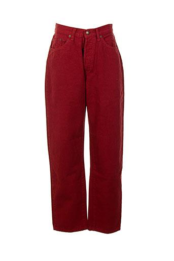 authentic pantalons femme de couleur rouge