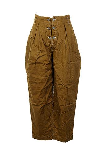 filly ston's pantalons femme de couleur marron