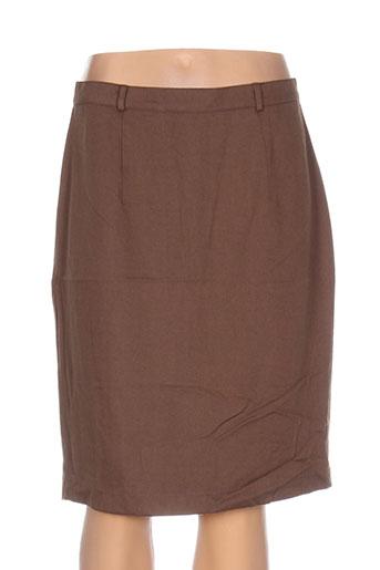 differentiel jupes femme de couleur marron