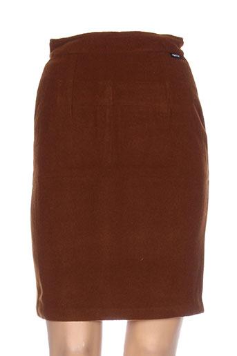 anne elisabeth jupes femme de couleur marron