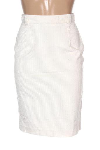 differentiel jupes femme de couleur blanc