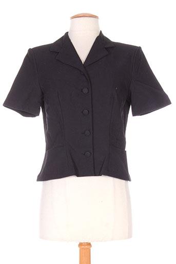 anne elisabeth vestes femme de couleur noir