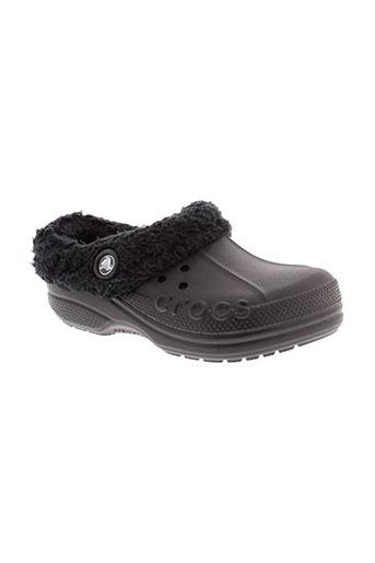 crocs chaussures enfant de couleur noir