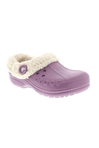 crocs mules et sabots fille de couleur violet