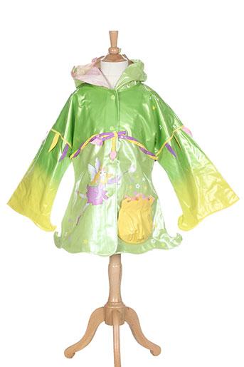 kidorable manteaux fille de couleur vert