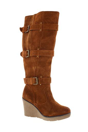 ilario et ferucci bottes femme de couleur marron