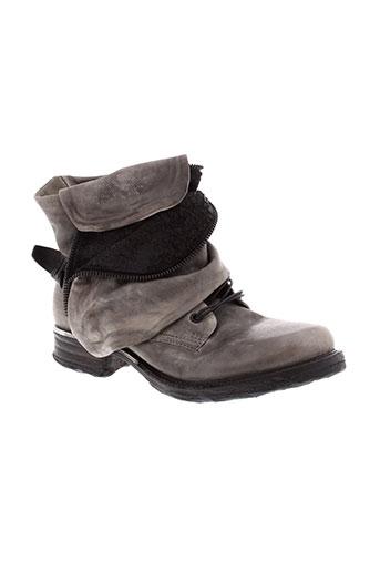 a et s et 98 boots femme de couleur gris