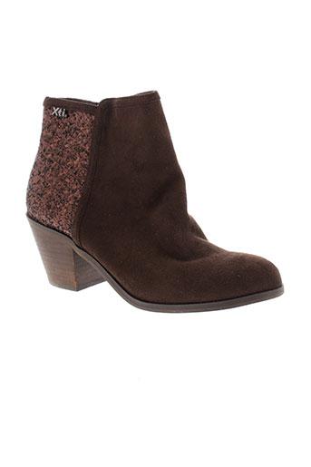xti boots femme de couleur marron