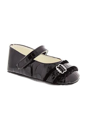 baby et chick chaussons fille de couleur noir