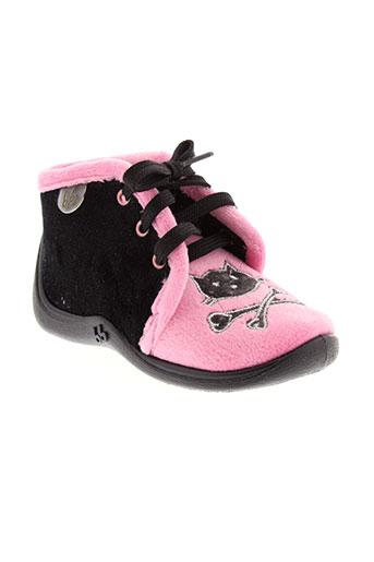 babybotte pantoufle fille de couleur rose