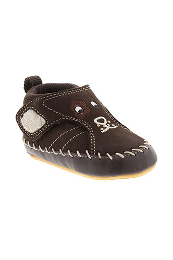 geox chaussons garcon de couleur marron