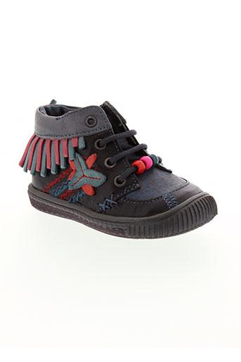 catimini chaussures fille de couleur noir