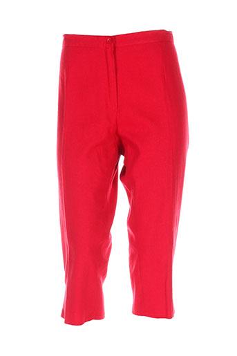 twef pantacourts femme de couleur rouge