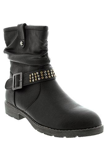 feel et in boots femme de couleur noir