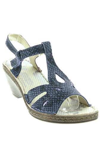 on foot chaussures femme de couleur bleu