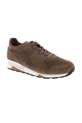 diadora heritage chaussures homme de couleur marron