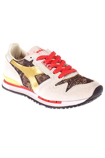 diadora heritage chaussures femme de couleur beige