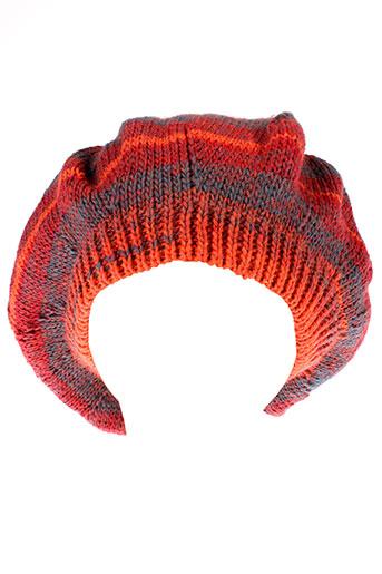 american et dissidence et natural chapeaux et bonnets femme de couleur orange