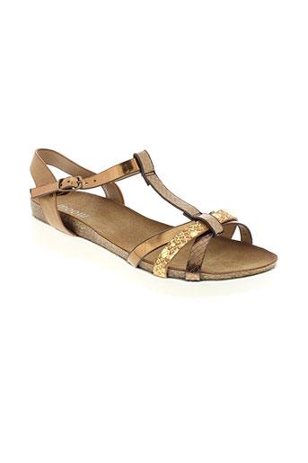 moow sandales et nu et pieds femme de couleur marron