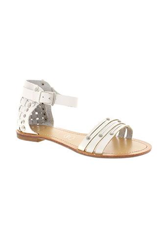 raxmax sandales et nu et pieds femme de couleur blanc