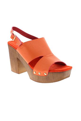 moow sandales et nu et pieds femme de couleur orange