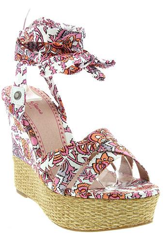 pepe et jeans sandales et nu et pieds femme de couleur rose