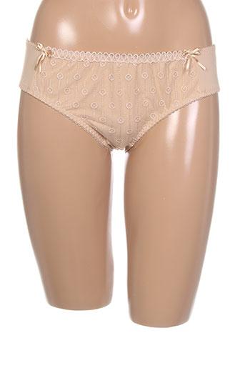 curvy et kate slips et culottes femme de couleur beige