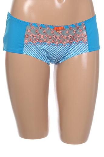 curvy et kate shortys et boxers femme de couleur bleu